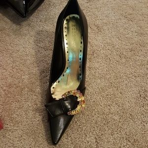 BCBG Girls black sequin heels
